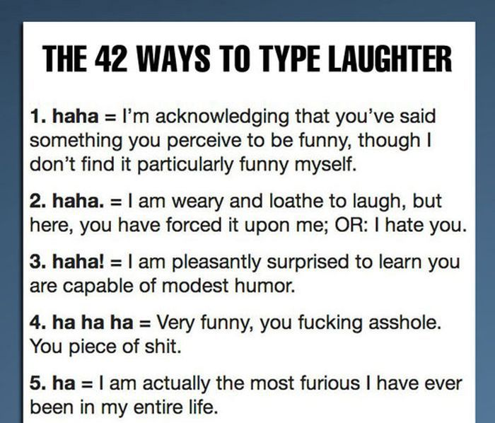 The 42 Ways to Type Laughter (8 pics)