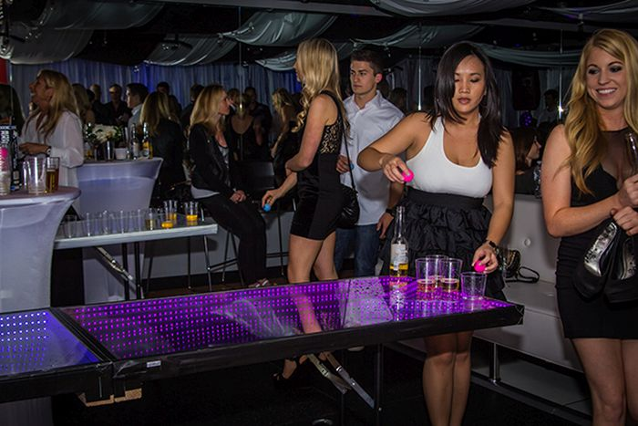 LED Beer Pong Table (10 pics)