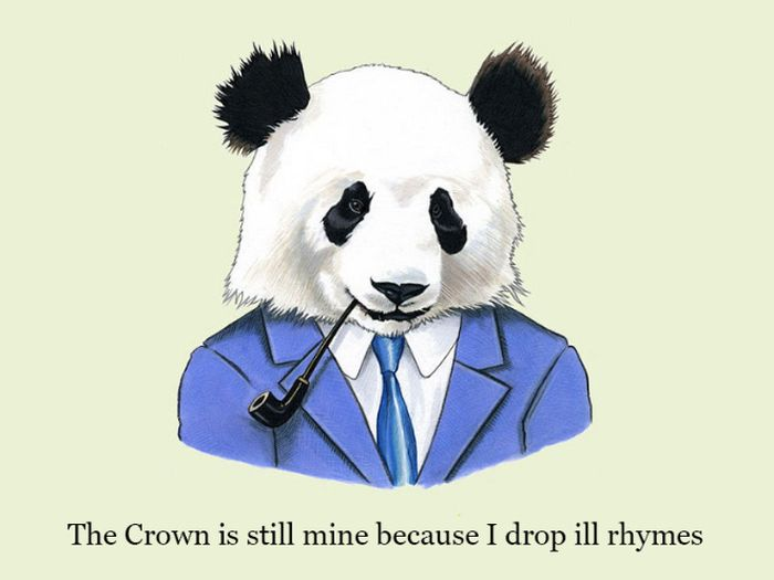 Well Dressed Animals With Rap Quotes (28 pics)