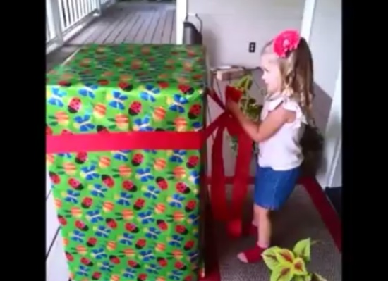 Amazing Present to Daughter Made by Military Dad