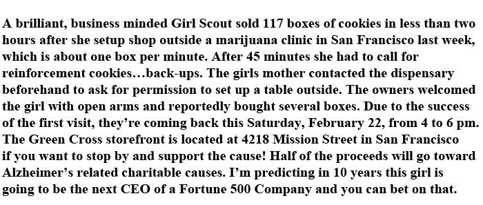 This Girl Scout Has a Brilliant Business Idea (4 pics)