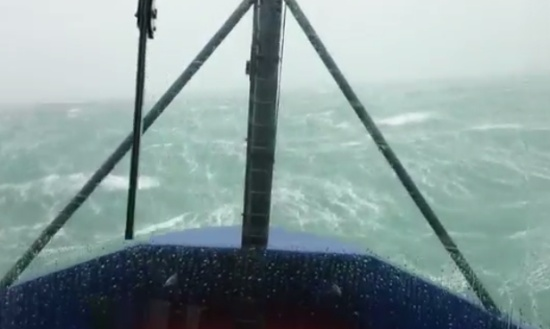 Going Through Powerful Storm