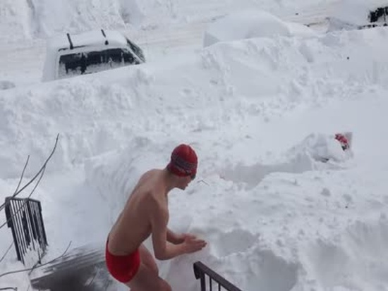 Swimming in Snow Like a Boss