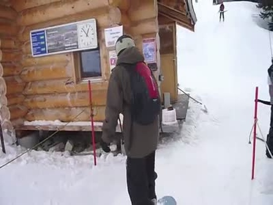 Snowboarder First Time on The Lift