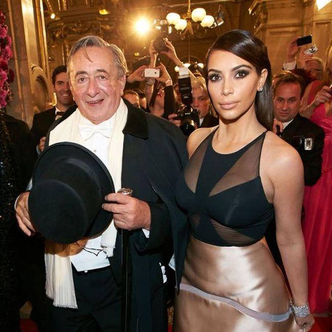 Kim Kardashian and Billionaire Richard Lugner (14 pics)