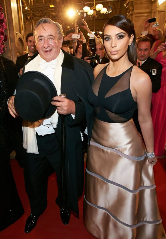 Kim Kardashian and Billionaire Richard Lugner (14 pics)