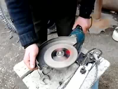 Transforming Circular Saw into a Chainsaw