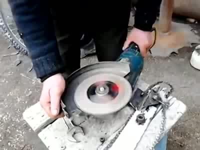 Transforming Circular Saw into a Chainsaw