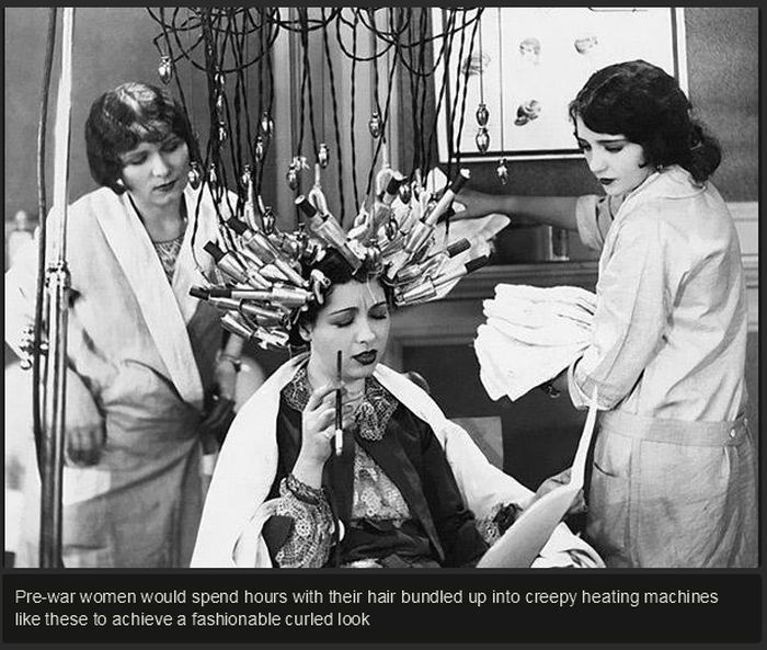 Beauty Procedures in 1930s-40s (14 pics)