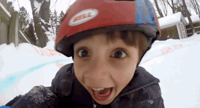 Backyard Luge (6 gifs)