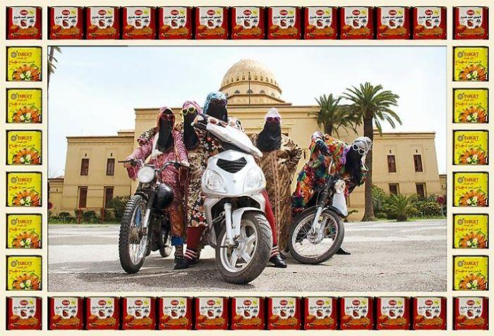 Female Bikers of Marrakech (10 pics)