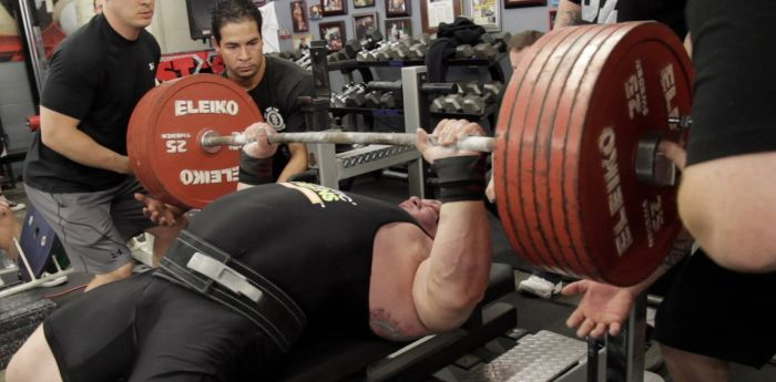 The Aftermath of the World Record Bench Press Attempt (2 pics)