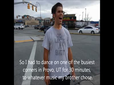 Guy Dances for 30 Minutes in the Street after Losing a Bet
