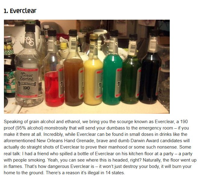 Some of the Most Dangerous Drinks in the World (6 pics)
