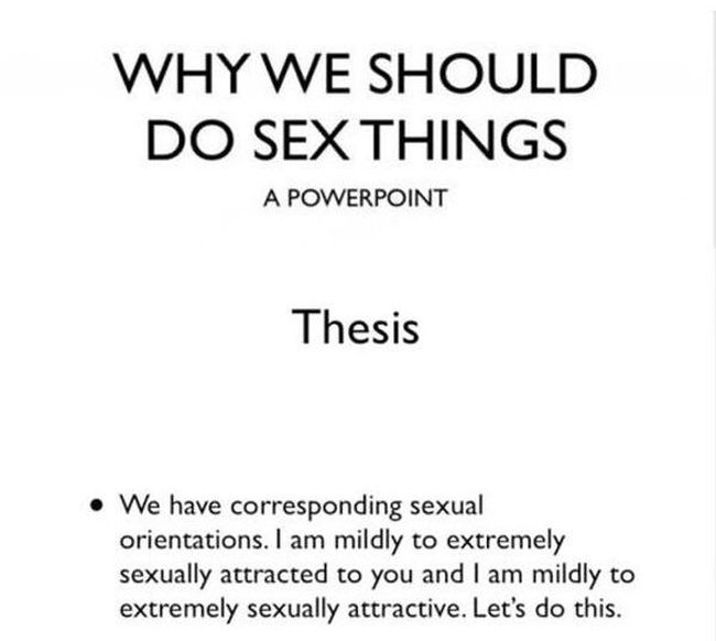 One Girl's Power Point About Sex (4 pics)