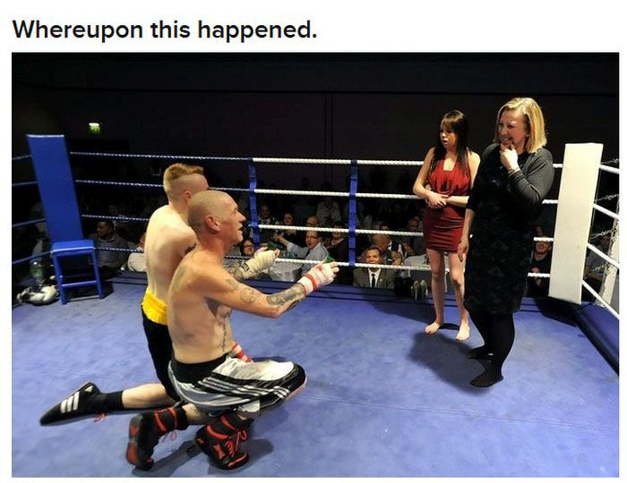 Boxers Proposing to Their Girlfriends (6 pics)