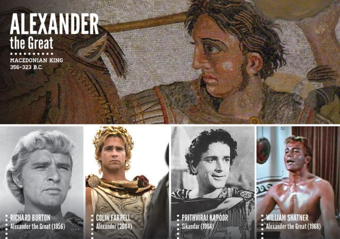Famous Historical Figures Portrayed in Movies (78 pics)