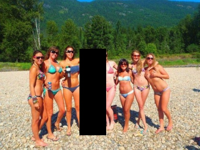 Bikini Optical Illusion