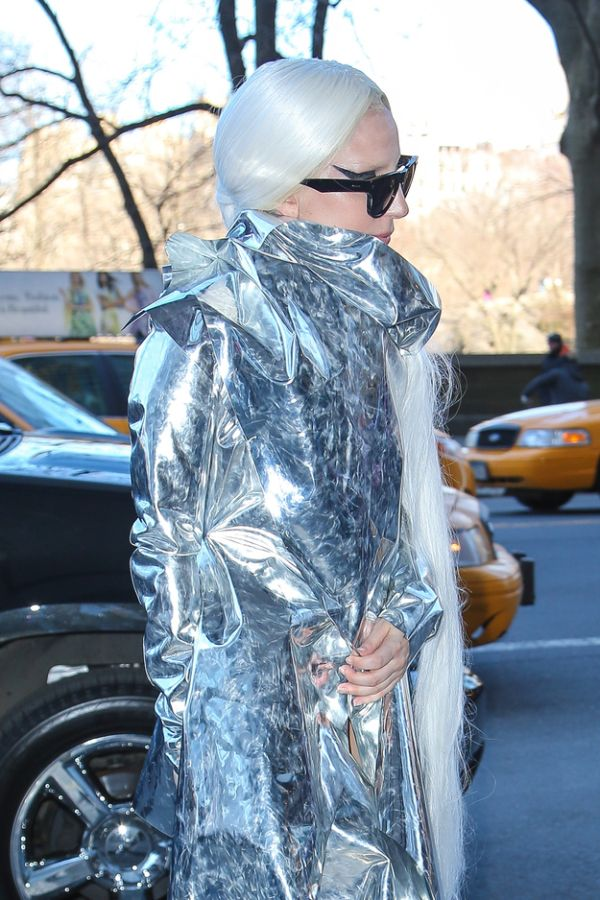 Lady Gaga Wraps Herself (5 pics)