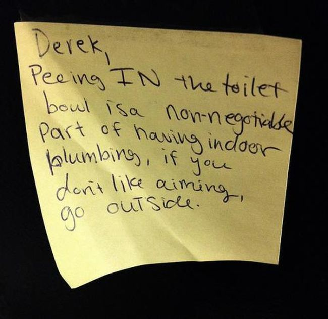 Angry Roommate Notes (24 pics)