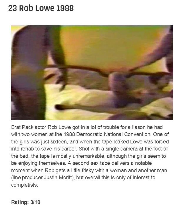 The Definitive Ranking of Celebrity Sex Tapes (30 pics)