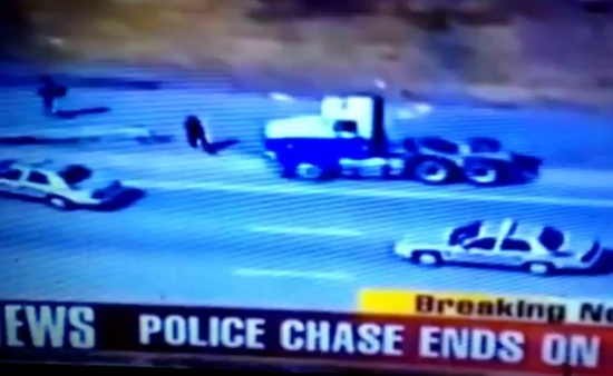 Police Officer Uses Turbo Mode Chasing a Criminal