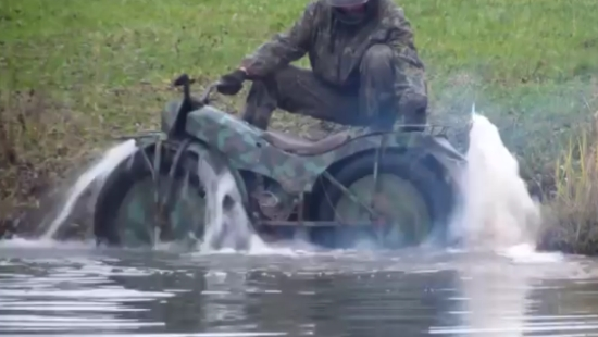 Amazing Russian All Terrain Motorcycle