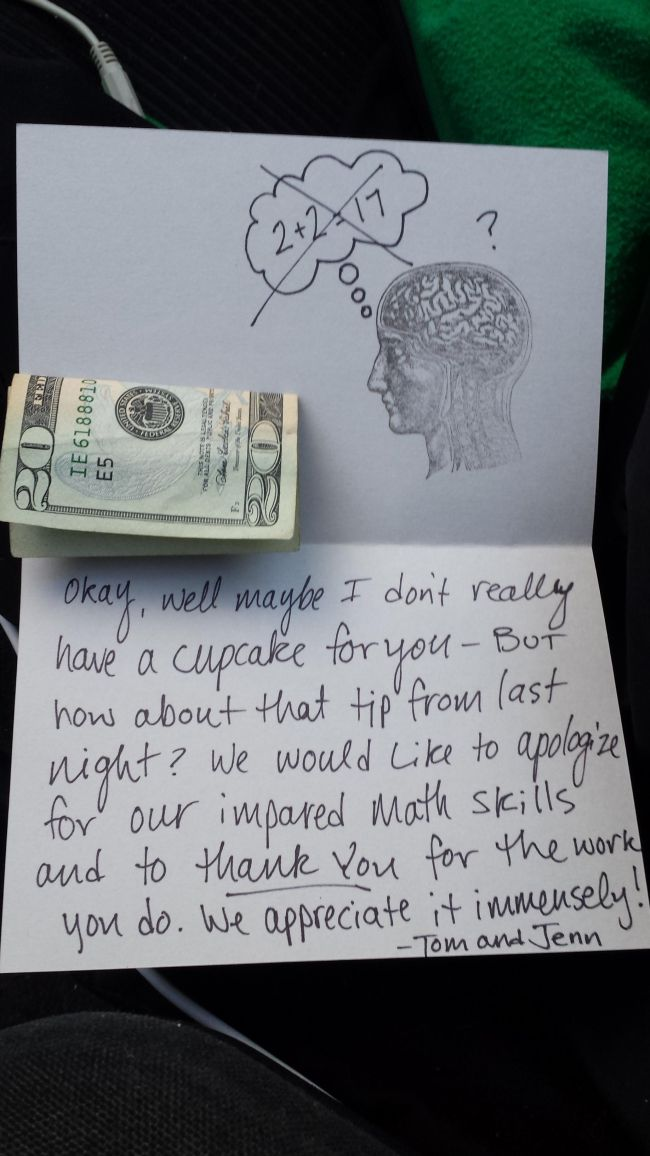 Pizza Guy Gets His Tips (2 pics)
