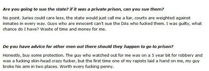 A Victim of Prison Rape Gives an Interview (12 pics)