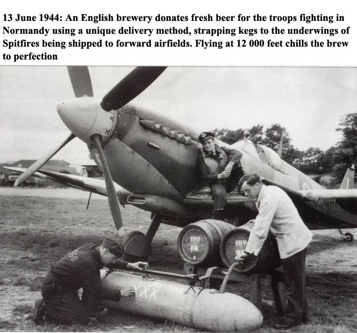 WWII Beer Delivery (2 pics)