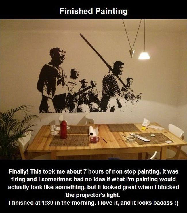 How to Paint Seven Samurai Still on the Wall (10 pics)