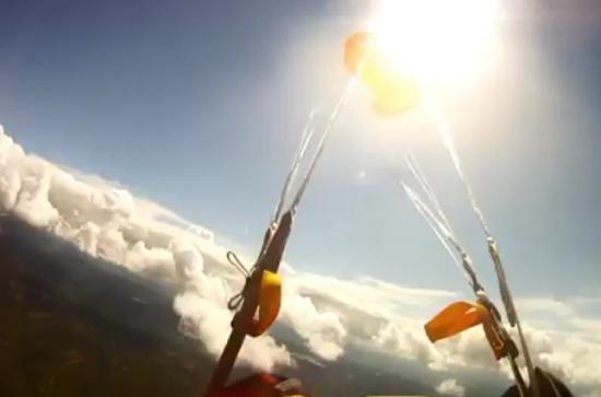 Lucky Skydiver Avoids Meteorite Hit During the Flight