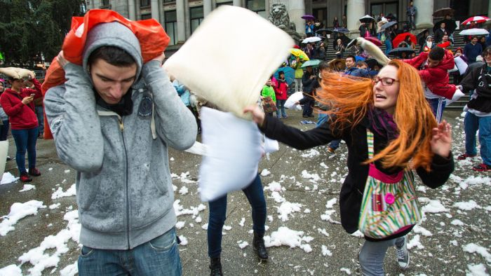 Pillow Fight Day 2014 (24 pics)