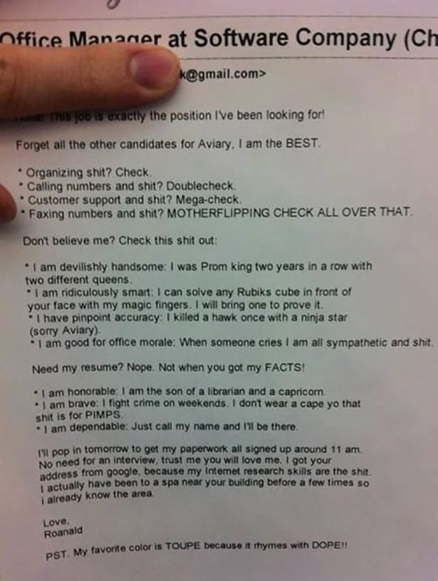 Resumes That Are So Wrong (20 pics)