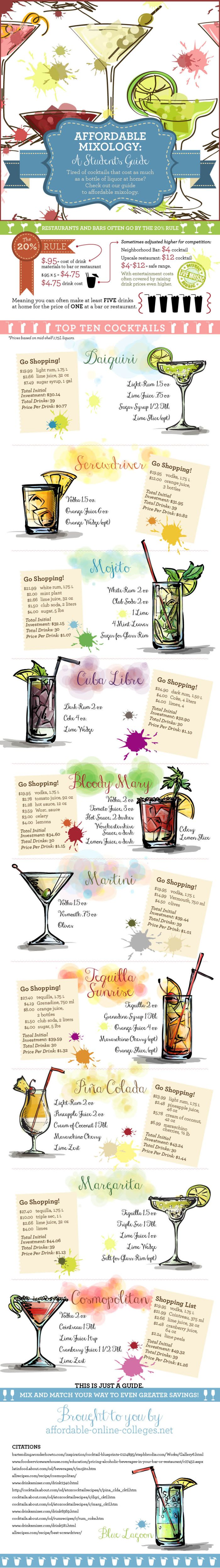 Affordable Mixology: A Student's Guide (infographic)