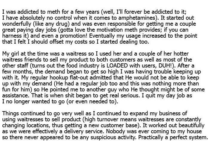 Confessions of a Meth Dealer (7 pics)