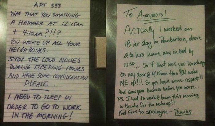 Smart Ass Responses to Written Notes (27 pics)