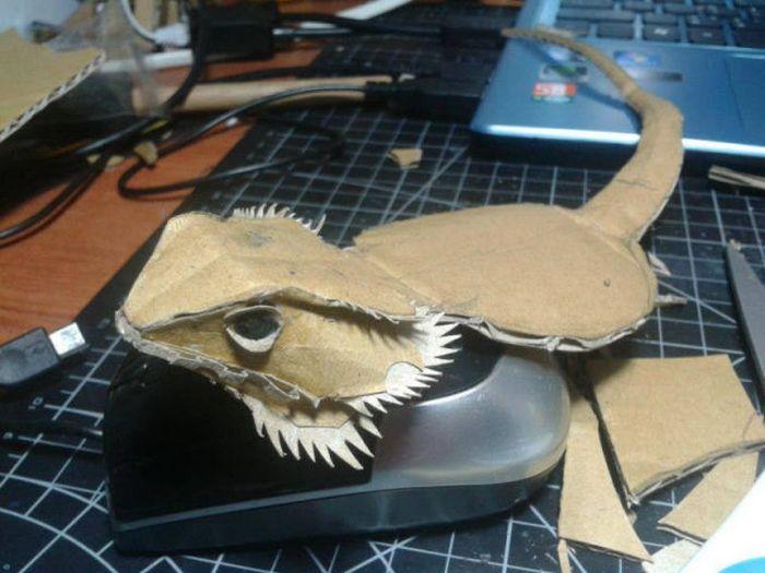Bearded Dragon Paper Art (24 pics)