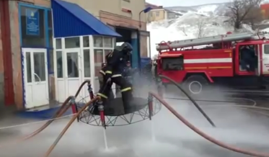 Russian Firefighters Show Some Magic