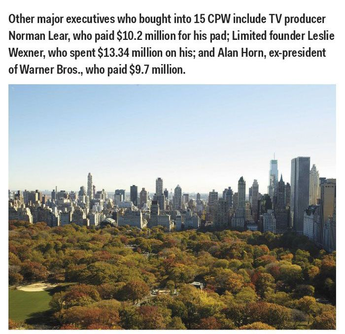Famous People Who Live at 15 Central Park West (26 pics)