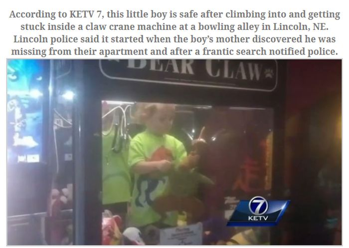 Missing Boy Who Was Found in a Very Strange Place (3 pics)