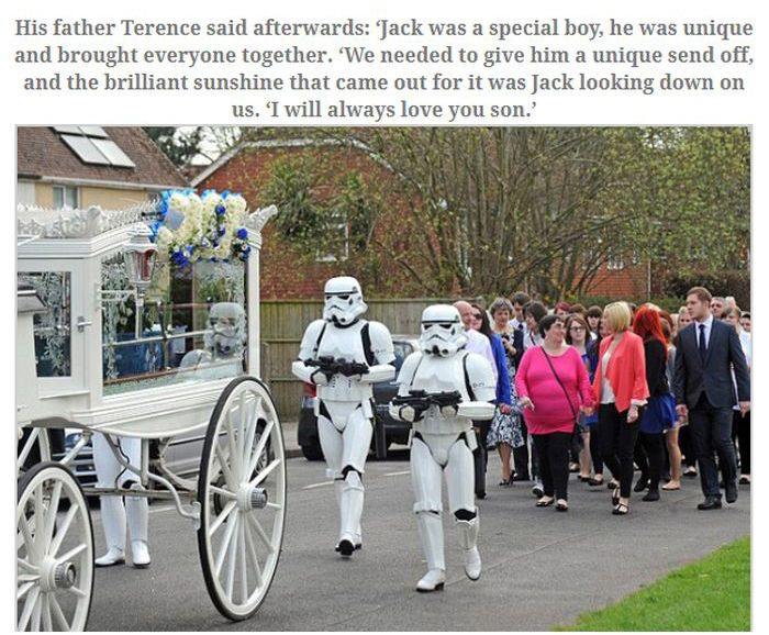 Jack Robinson's Final Wish Came True at His Funeral (6 pics)