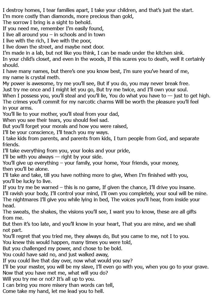 Drug Poem (3 pics)
