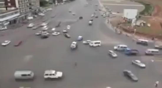 Driving in the Capital of Ethiopia