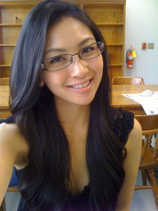Sexy chick with glasses