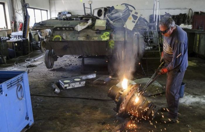 This Is Where Army Tanks Go To Die (24 pics)