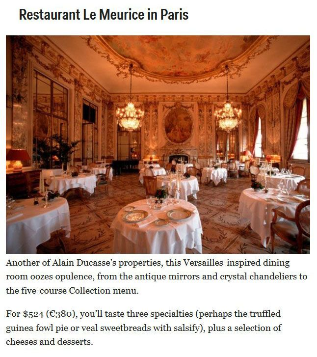 These Are The Most Expensive Restaurants In The World (8 pics)