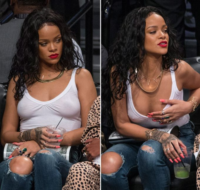 Rihanna Lets It All Hang Out (9 pics)