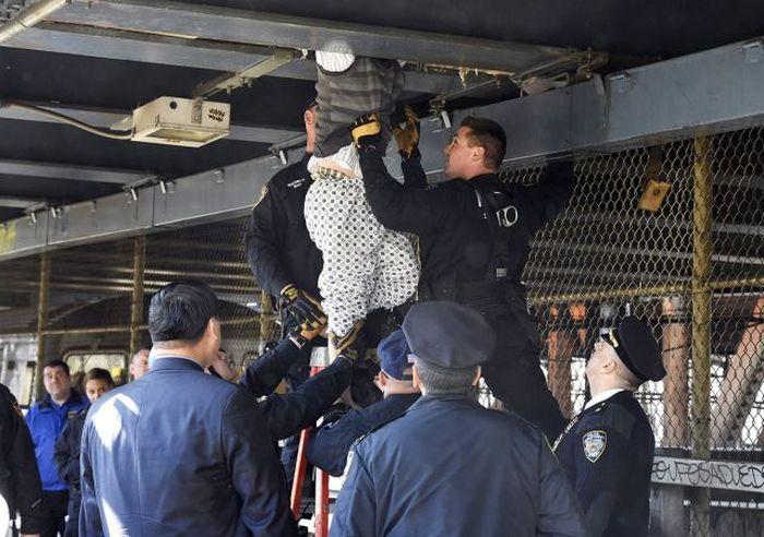 Homeless Man Makes The Manhattan Bridge His Home (21 pics)