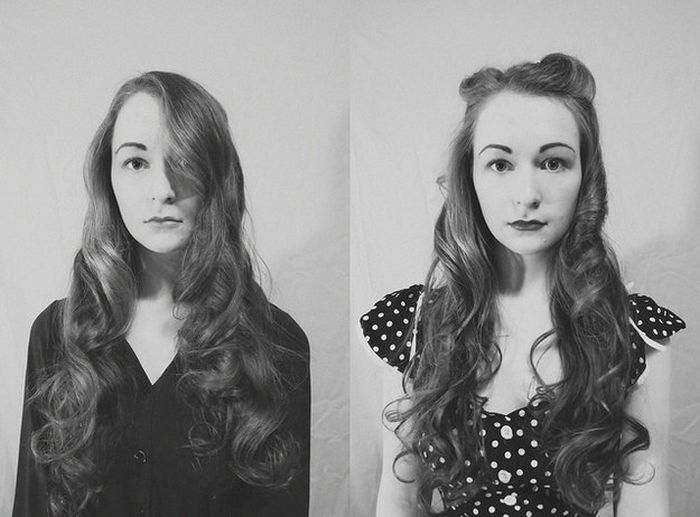 This Girls' Selfies Show Off 100 Years Of Fashion (10 pics)